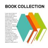 Isolerad färgrik logo för vektor för boksamling Skolalogotyp Fotografering för Bildbyråer