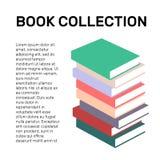 Isolerad färgrik logo för vektor för boksamling Skolalogotyp Arkivfoton