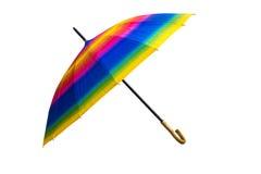 Isolerad färgrik ubrella för regnbåge Fotografering för Bildbyråer