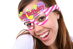 isolerad födelsedagflicka Royaltyfri Foto