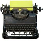 isolerad föråldrad skrivmaskinstappning arkivbild