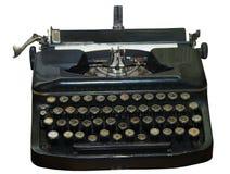 isolerad föråldrad skrivmaskinstappning royaltyfri bild