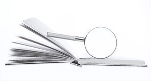 isolerad förstorande vektorwhite för bakgrund glass illustration Royaltyfri Fotografi