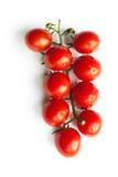 Isolerad filial för körsbärsröda tomater Royaltyfri Bild