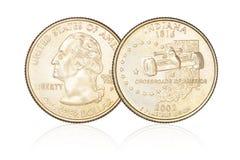 Isolerad fjärdedeldollar Royaltyfri Bild