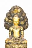 Isolerad forntida Buddha Arkivbild