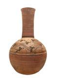 Isolerad forntida egyptisk krukmakeri Royaltyfria Bilder