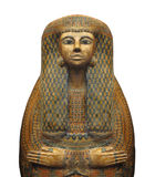 Isolerad forntida egyptisk sarkofag. Arkivbild