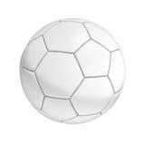 isolerad fotbollwhite för bakgrund boll Arkivfoto