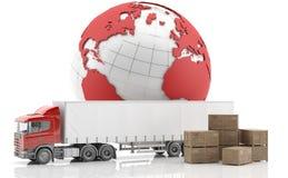 isolerad fraktinternational stock illustrationer