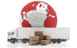 isolerad fraktinternational truckl Arkivfoton