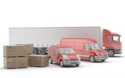 isolerad fraktinternational truckl stock illustrationer