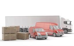 isolerad fraktinternational truckl royaltyfri illustrationer