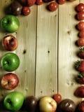 isolerad frukt för ramen 3d framför white Royaltyfri Foto