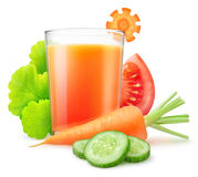 isolerad fruktsaftgrönsak arkivfoton