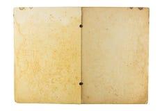 isolerad gammal öppen white för bakgrund bok Royaltyfria Foton