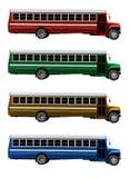 Isolerad gammal amerikansk skolbuss fotografering för bildbyråer