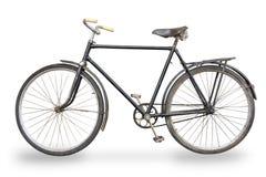 Isolerad gammal cykel Royaltyfri Foto