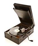 Isolerad gammal grammofon Royaltyfri Bild