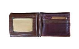 isolerad gammal handväska för läder Royaltyfria Foton