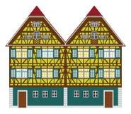 isolerad gammal over white för lantgård hus Arkivbilder