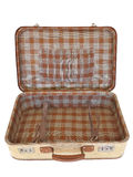 Isolerad gammal resväska - - inom Arkivfoton