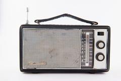 Isolerad gammal retro radio Royaltyfri Fotografi