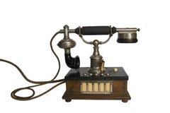 Isolerad gammal tappningtelefon Fotografering för Bildbyråer
