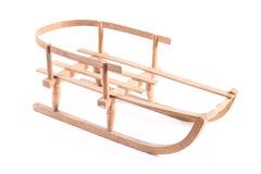 Isolerad gammal träjul för vinter för sport för släde för pulkatappningträ royaltyfria foton