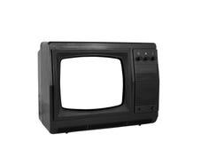 isolerad gammal tv Royaltyfri Bild
