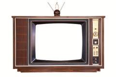 Isolerad gammal tv Fotografering för Bildbyråer