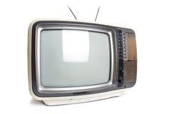 isolerad gammal tv Arkivfoto