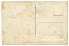 Isolerad gammal vykort - royaltyfri bild