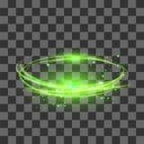 Isolerad genomskinlig ljus effekt på rutig bakgrund Grön blixt Flafe vektor illustrationer
