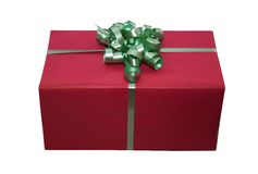 isolerad giftbox royaltyfri foto
