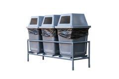 isolerad gjord avfallwhite för bakgrund 3d cans Royaltyfria Bilder