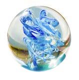 Isolerad Glass boll Fotografering för Bildbyråer