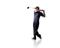 isolerad golfare Royaltyfria Bilder