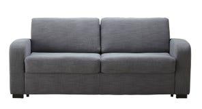 Isolerad grå soffa Arkivbilder