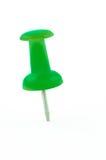 Isolerad grön häftstift Royaltyfri Fotografi
