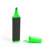 Isolerad grön highlighter Fotografering för Bildbyråer