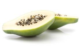 Isolerad grön Papaya Fotografering för Bildbyråer