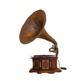 Isolerad grammofon Royaltyfri Bild