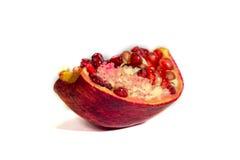 Isolerad granatröttfrukt Fotografering för Bildbyråer