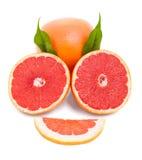 isolerad grapefrukt Arkivfoto