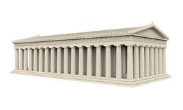 Isolerad grekisk tempel vektor illustrationer