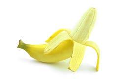 Isolerad gul banan Arkivbilder