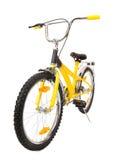 Isolerad gul cykel Royaltyfri Bild
