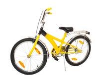 Isolerad gul cykel Royaltyfri Fotografi