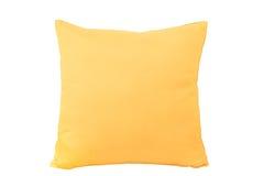 Isolerad gul kudde Arkivbild